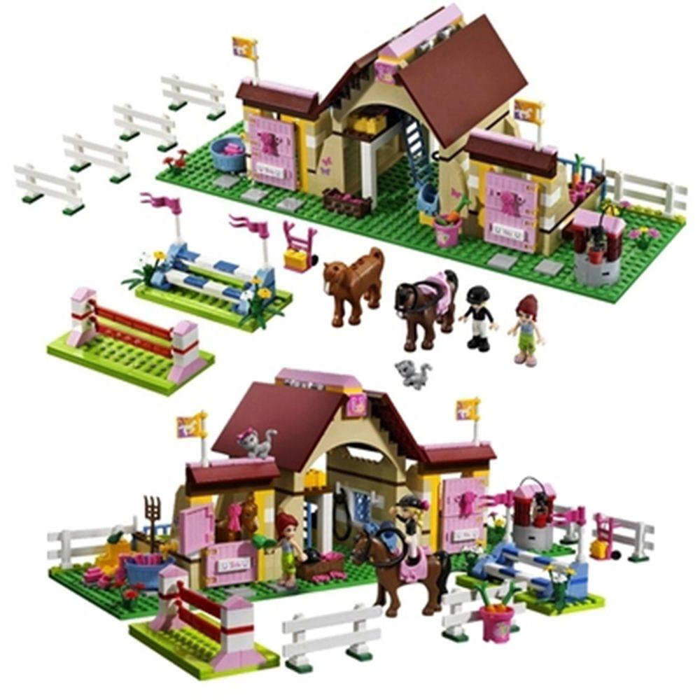 Heartlake Mia/'s Farm Horse Figure Stables Friends Series Building Blocks 400PCS