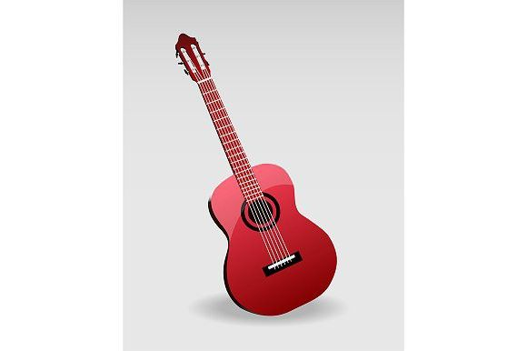 Acoustic classic guitar. Objects. $2.00
