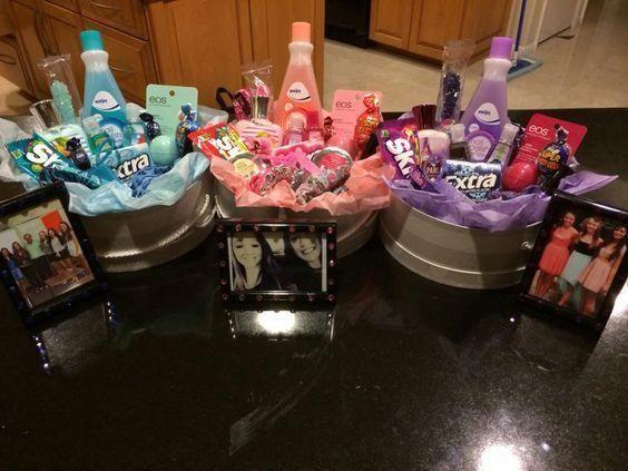 Canasta de regalo de cumpleaños para niñas adolescentes  Regalos de Navidad DIY para niñas adolescentes