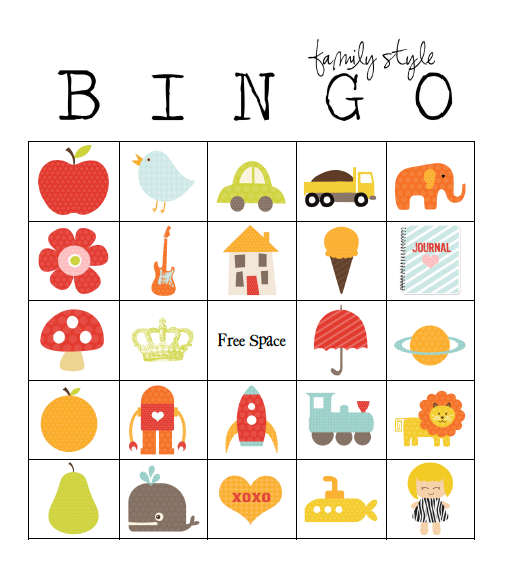 49 Printable Bingo Card Templates Babysitting Ideas Bingo Card