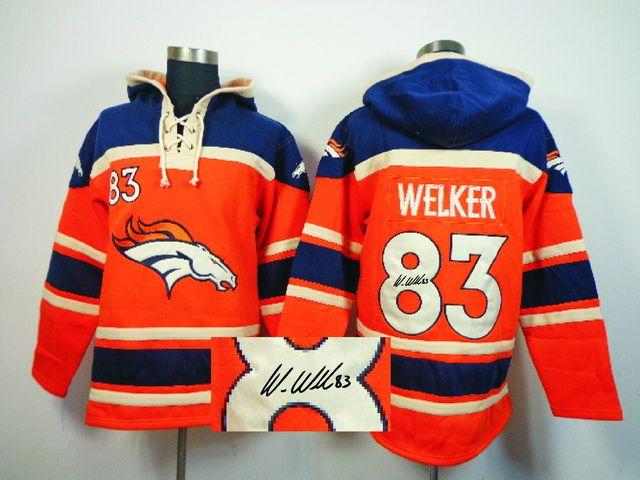 Old Time NFL Jersey Team Hoodie NFL Denver Broncos WELKER Jersey ...