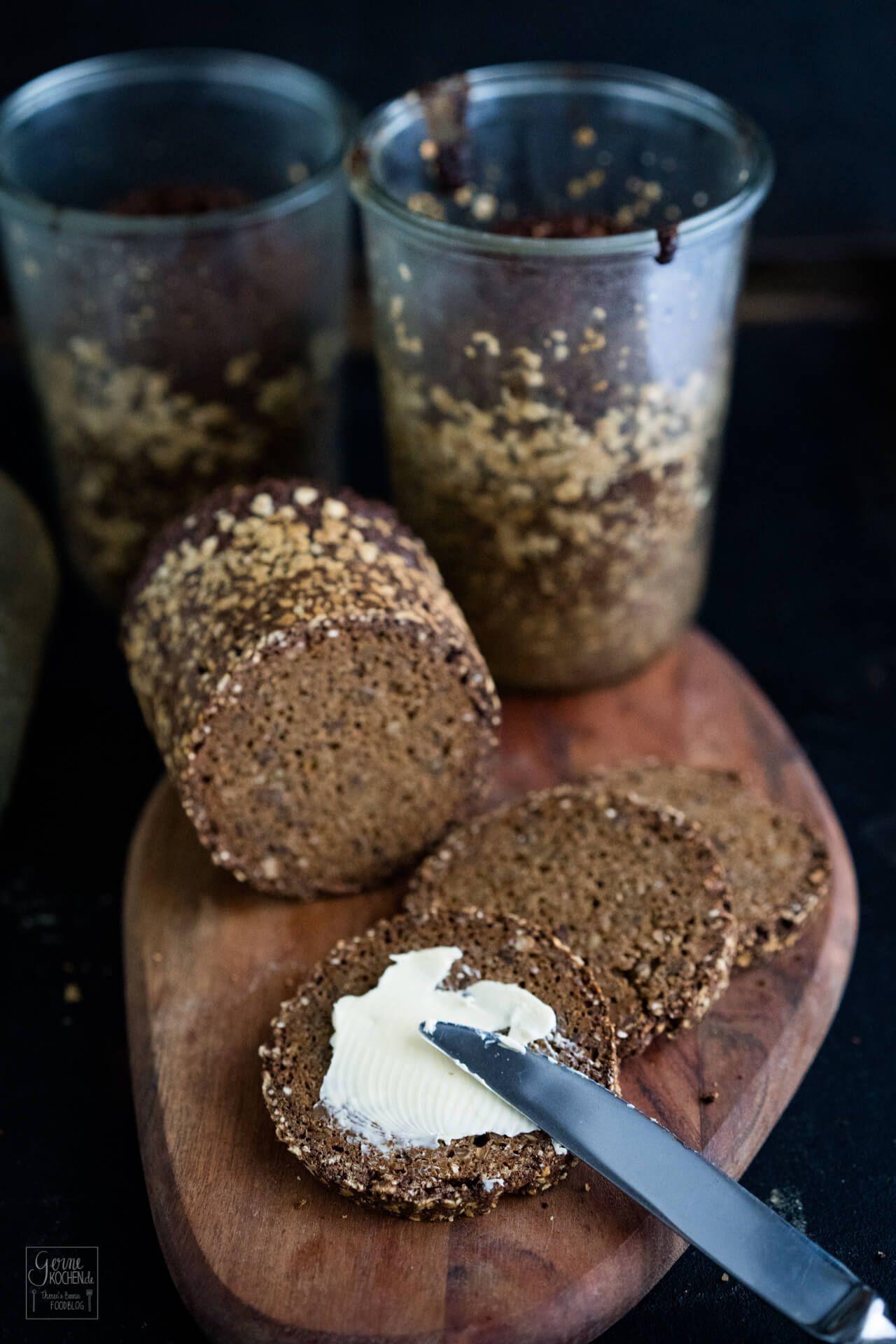 Rezept: Vollkornbrot - im Glas gebacken - Gernekochen.de