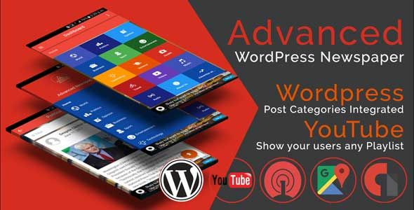 Advanced WordPress Newspaper Ionic 4 Full Mobile Application