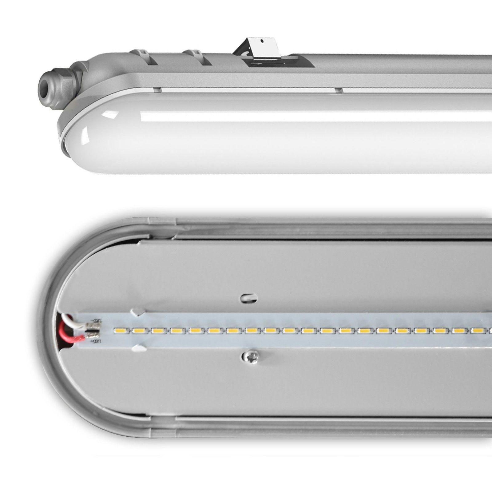 Details zu Wannenleuchte LED Wannenlampe Hallenleuchte Industrie ...