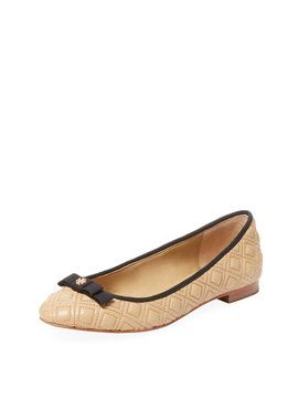 Marion Quilted Leather Ballet Flat from Tory Burch: Shoes on Gilt