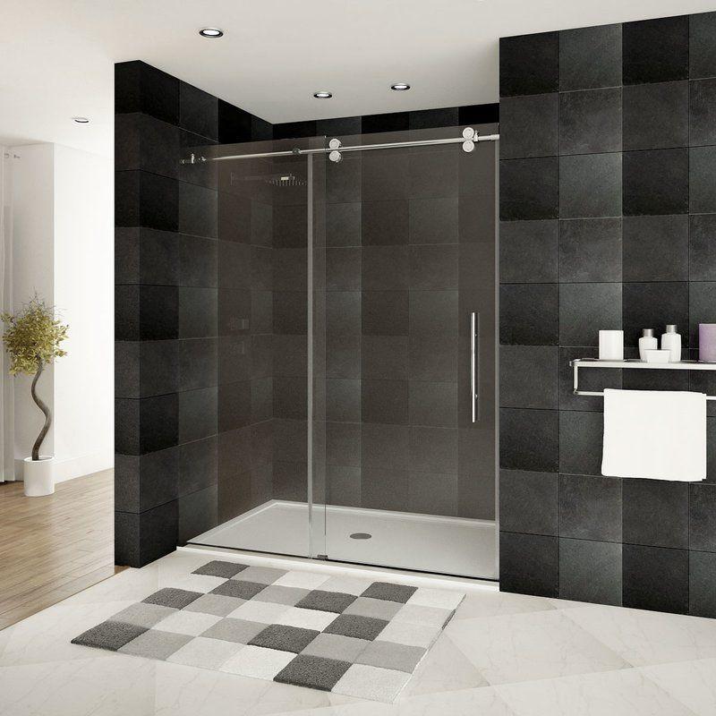 Ultra D 48 Quot X 79 Quot Single Sliding Frameless Shower Door