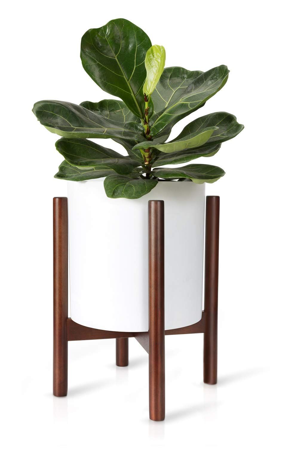 Mid Century Plant Stand Best Fits 12 Flower Pot Wood Indoor Planter Holder Modern Home Decor P Indoor Flower Pots Flower Pot Holder Plant Stand Indoor