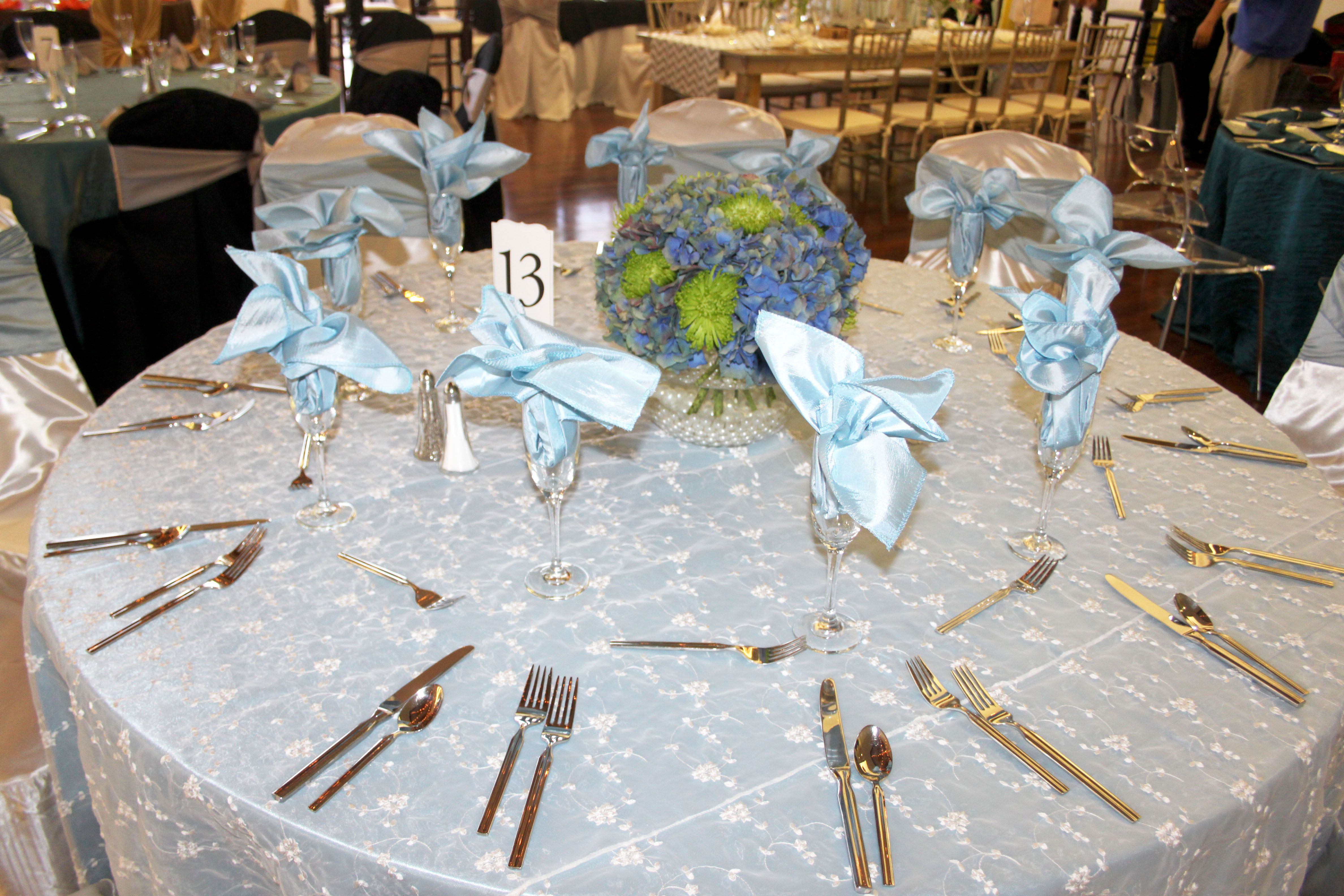 Table 13 Set Up With Centerpiece Done By Blossoms By Gayle