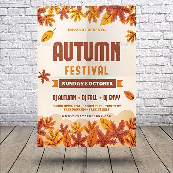 Autumn Flyer Fully editable flyer template #flyer #design
