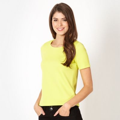 The Collection Lime textured shell top- at Debenhams.com