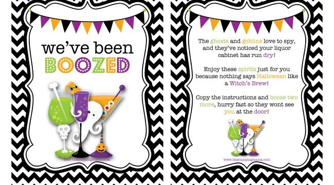 picture about You've Been Boozed Printable identify Weve Been Boozed! No cost Printable Haloween Halloween