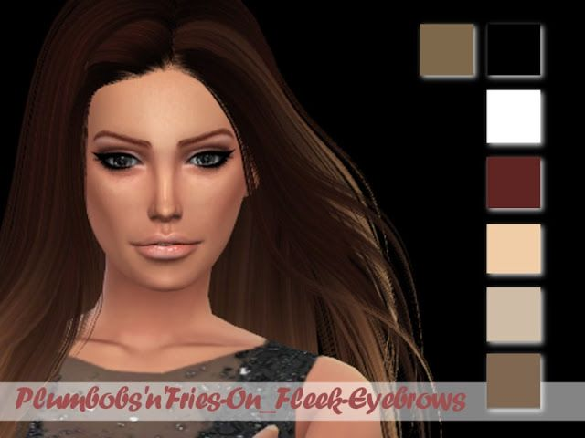 Sims 4 CC's - The Best: Eyebrows by Plumbobs n Fries