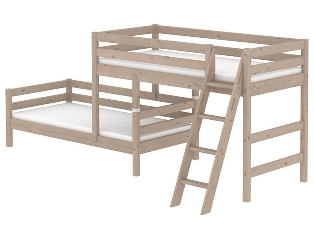 flexa classic kombi etagenbett mit schr ger leiter terra 90 10314 11 01 jetzt bestellen unter. Black Bedroom Furniture Sets. Home Design Ideas