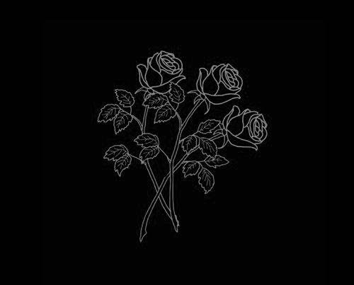 Roses Art Black Aesthetic Wallpaper Black Aesthetic Black
