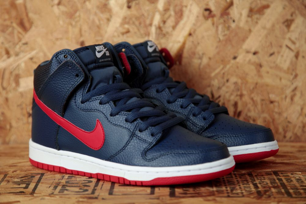 mens nike dunk blue red