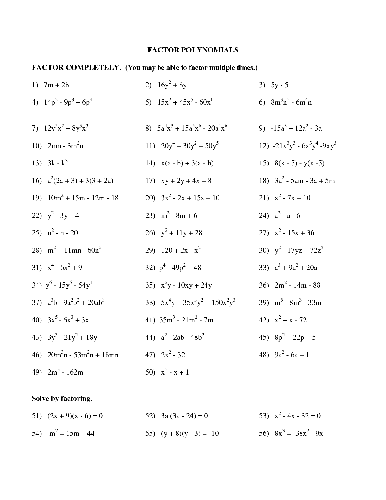 8 1 Adding And Subtracting Polynomials Worksheet Answers