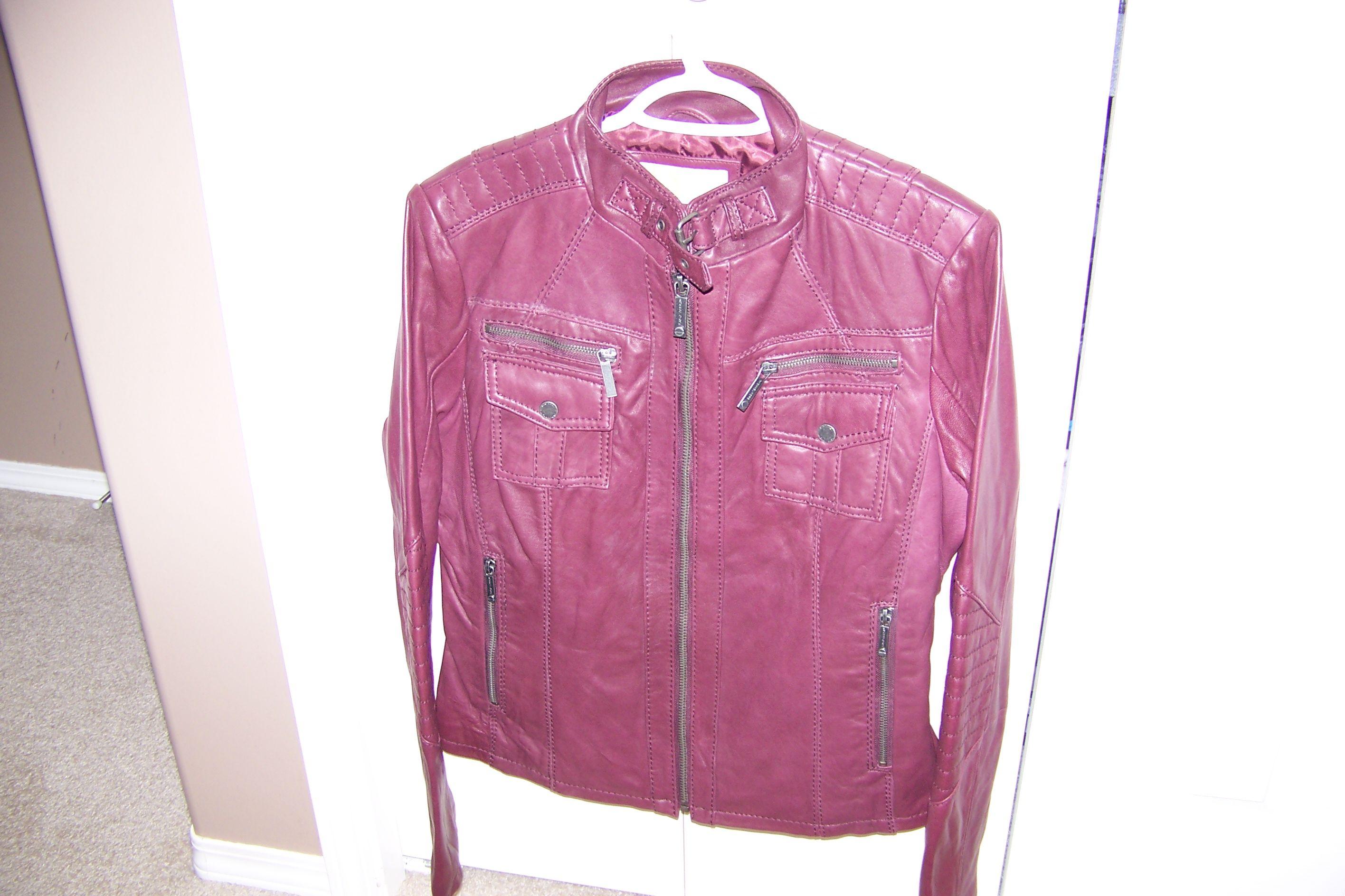 michael kors burgundy leather jacket2013 Womens