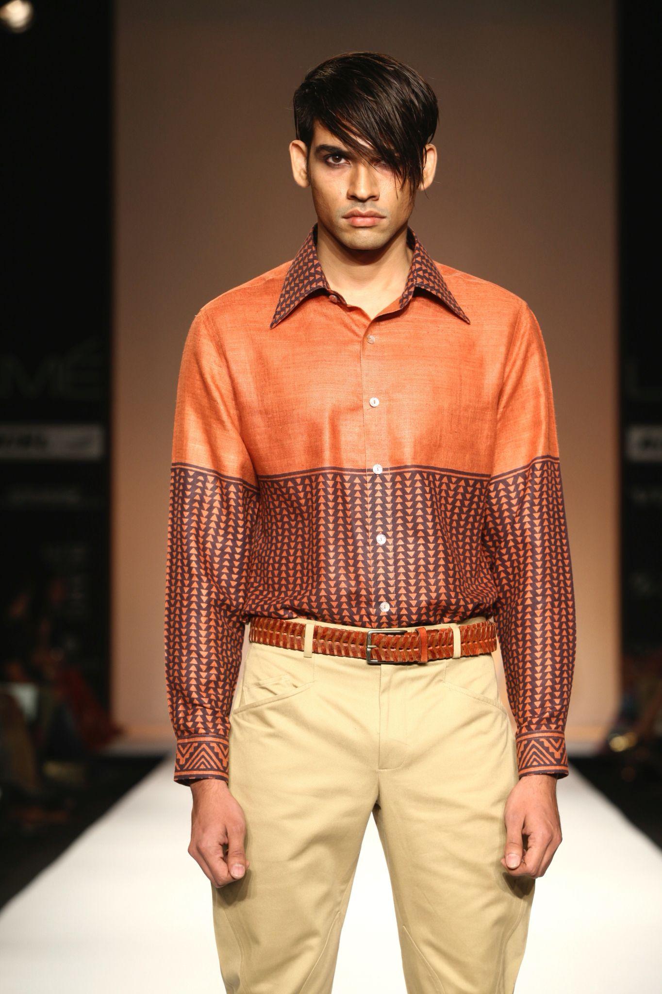 Trendy #mens #shirt... #blockprinting #summerwear #linenshirts #customised #designerwear #menswear #rohitkamra