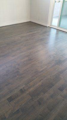Sand Tint Stain Grey Wash And Refinish Maple Da Flooring
