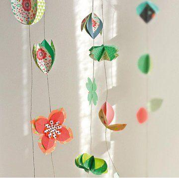 Create An Origami Flower Garland Fabriquer Une Guirlande De Papier En