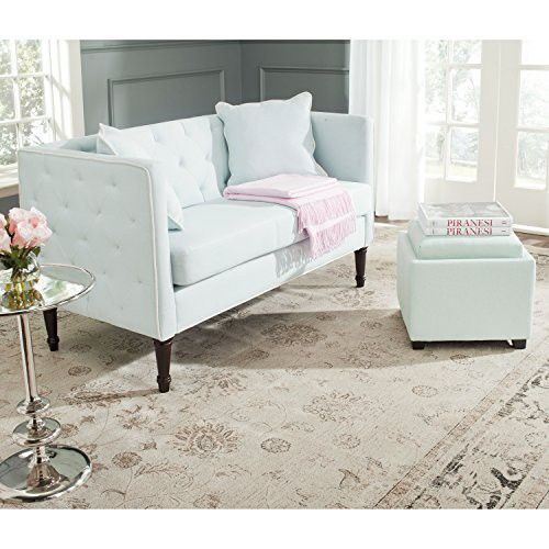 Safavieh Home Collection Sarah Powder Blue And Espresso