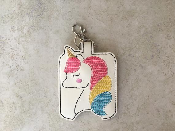 Unicorn Hand Sanitizer Holder Cute Hand Sanitizer Holder Red Bow
