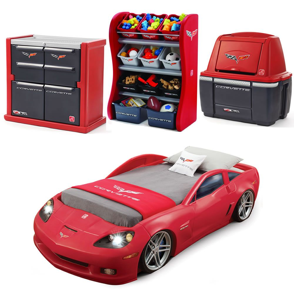 Corvette Bedroom Combo By Is Our Most Por Race Car Set This Includes A Toddler To Twin Bed Dresser And Organizer