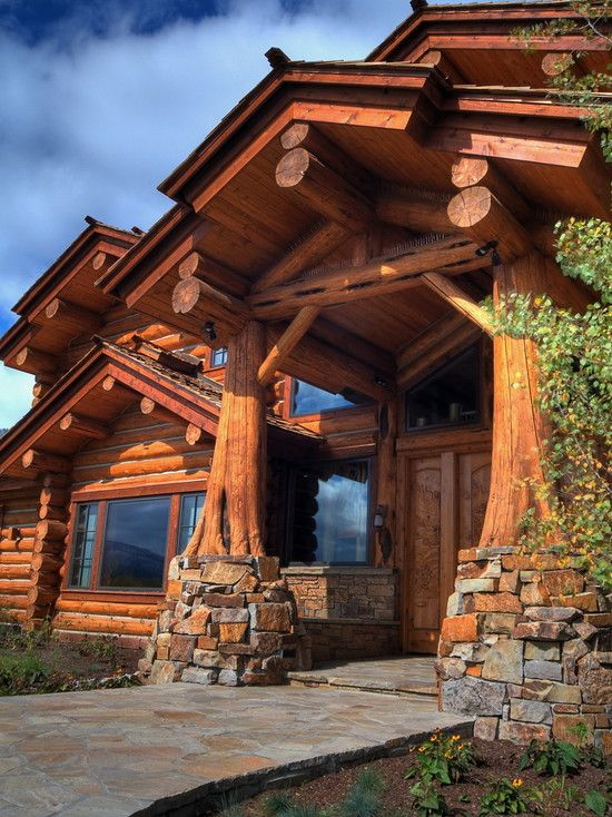 Handcrafted Log Home Log Homes Log Cabin Homes Cabin Homes