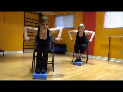cardio and strength exercises on a chair 2 for people