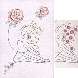 Stitching Cards Fairy Kneeling