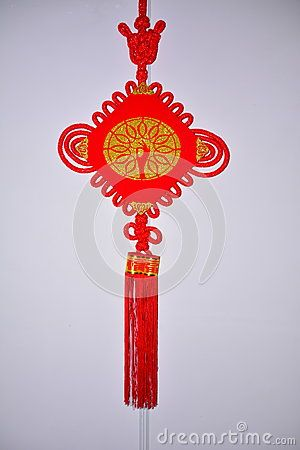 Chinese knot is a kind of ancient Chinese man& x27;s body decoration, development to today is a kind of Arts and crafts, is a symbol of good luck.