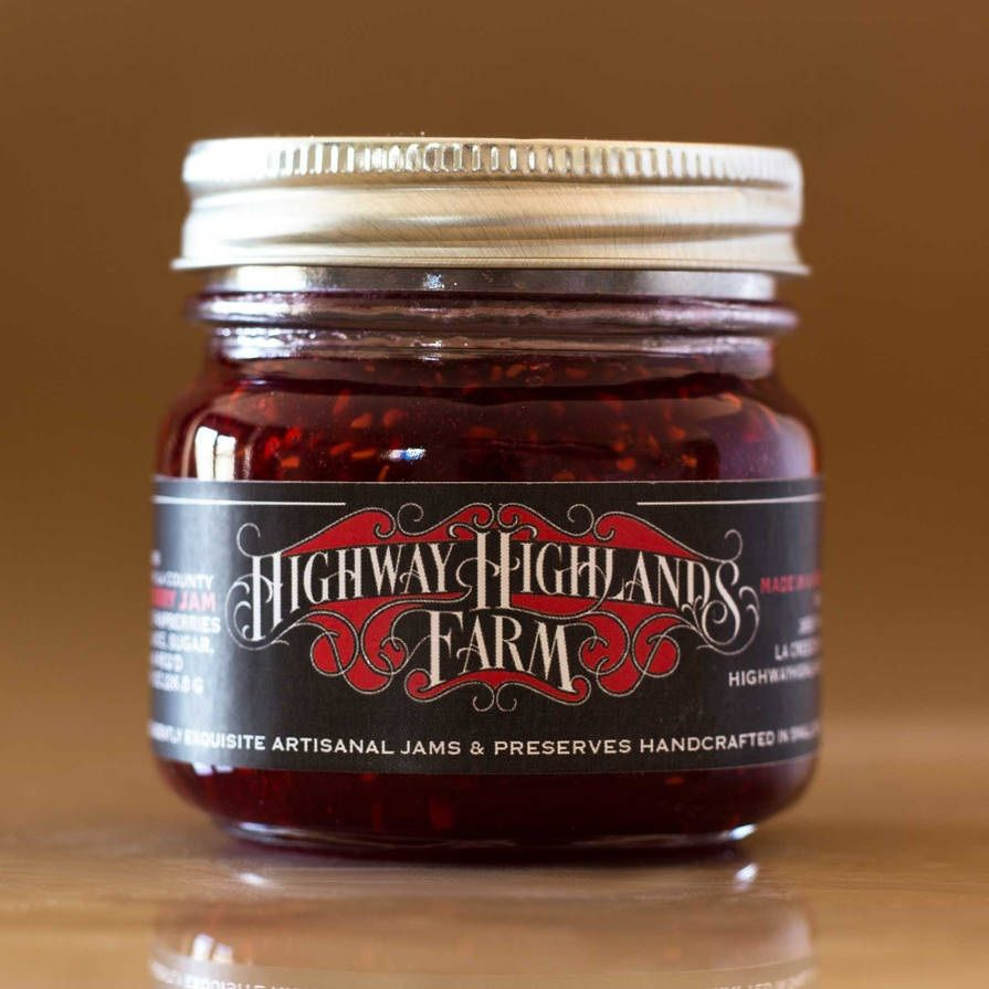 Raspberry jam jar label by Highway Highlands Farm | Jar & Bottle