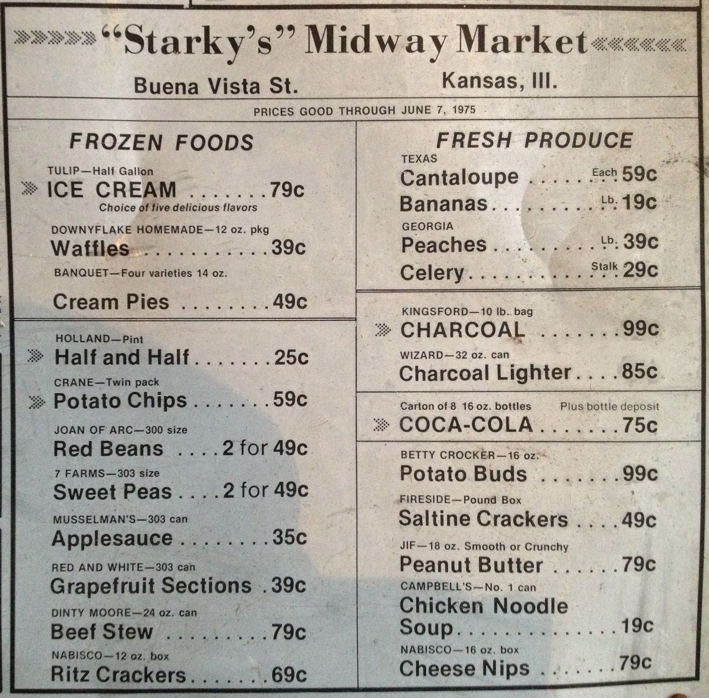 Illinois edgar county kansas - Kansas Illinois Grocery Store Advertisement 1975
