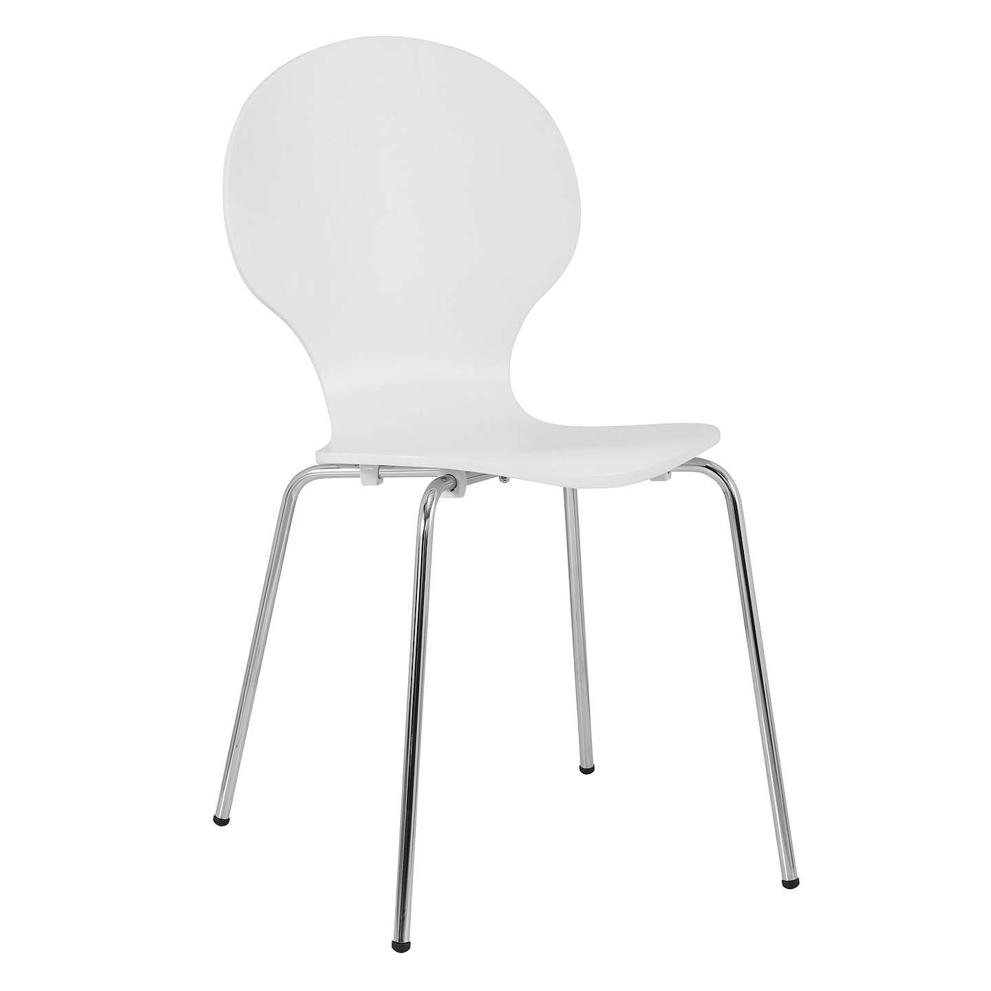 House By John Lewis Curve Dining Chair White Dining Chairs