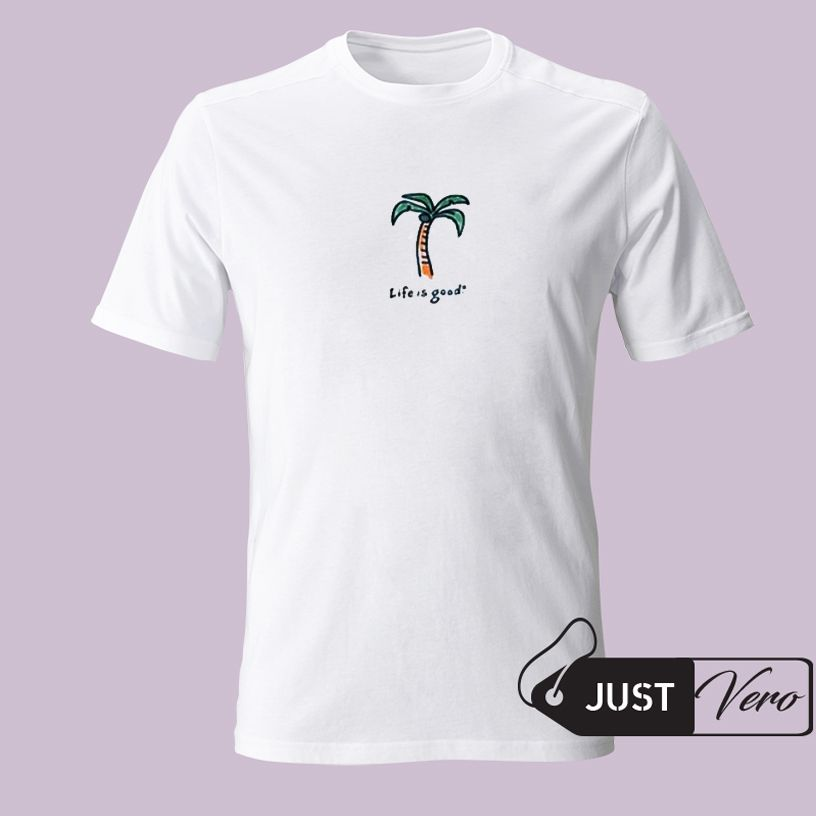 ff050bc6 Life Is Good Palm Tree T shirt XS - 5XL unisex for men and women   T ...
