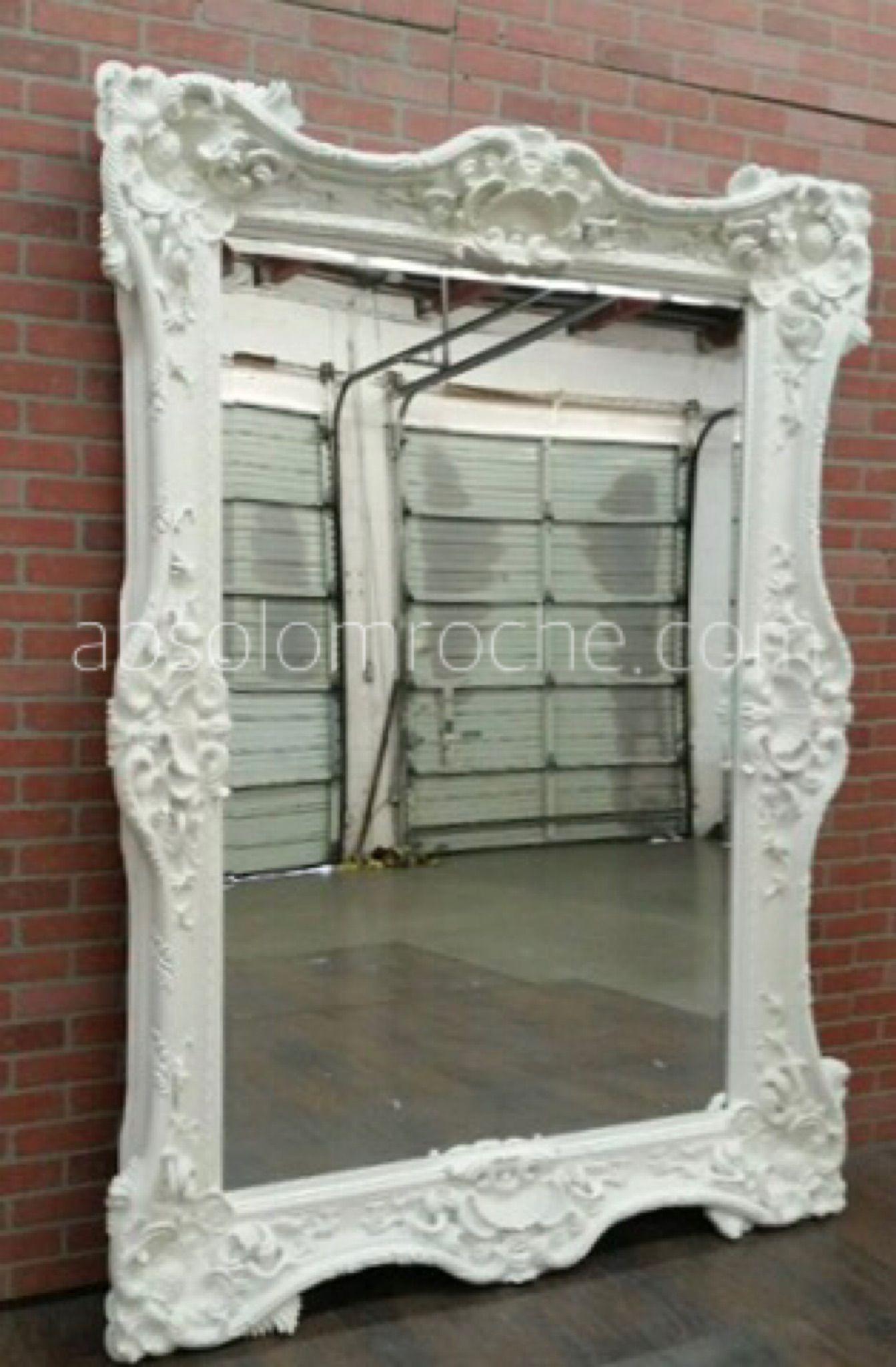 Absolom Roche Mirror (92 X 66)  Metallic Silver