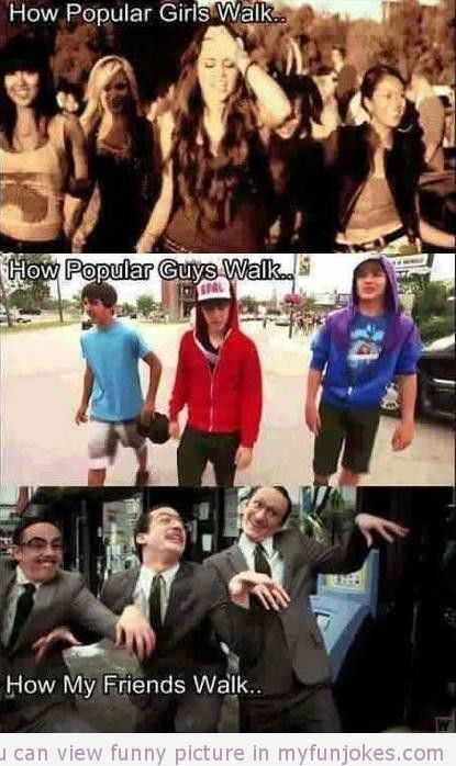 How Different People Walk In Groups Funny Joke Of The Day Funny Pictures Funny Jokes Funny Relatable Memes