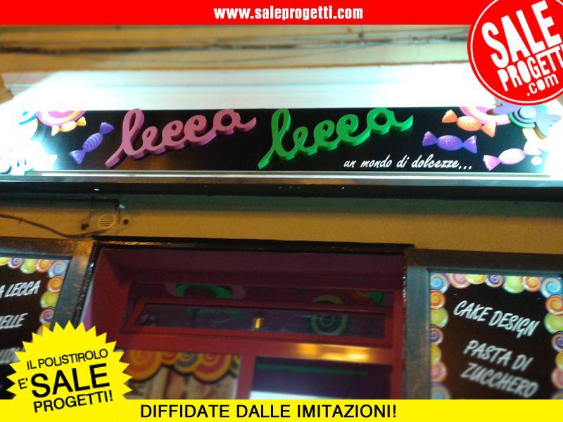 """Allestimento interno per franchising caramellerie """"Lecca Lecca"""".  www.saleprogetti.com"""