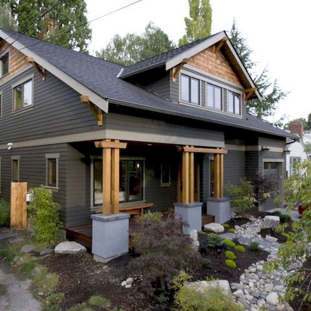 Awesome Black House Exterior Design Ideas You Definitely Like Hoomcode Black House Exterior Craftsman Exterior Craftsman Home Exterior