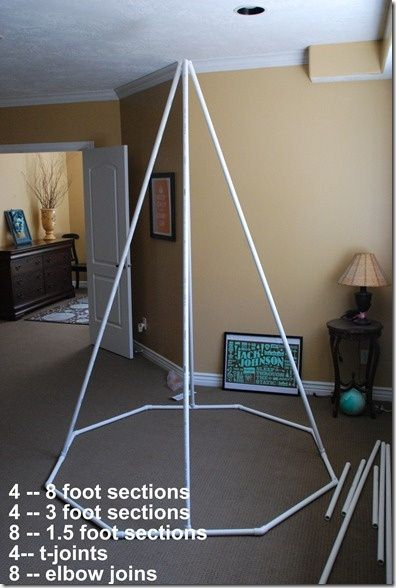 DIY teepee - the floor frame would keep it from collapsing inward during play - possible & Make a Summer Reading Tent/Teepee!! tutorial   Diy teepee Floor ...
