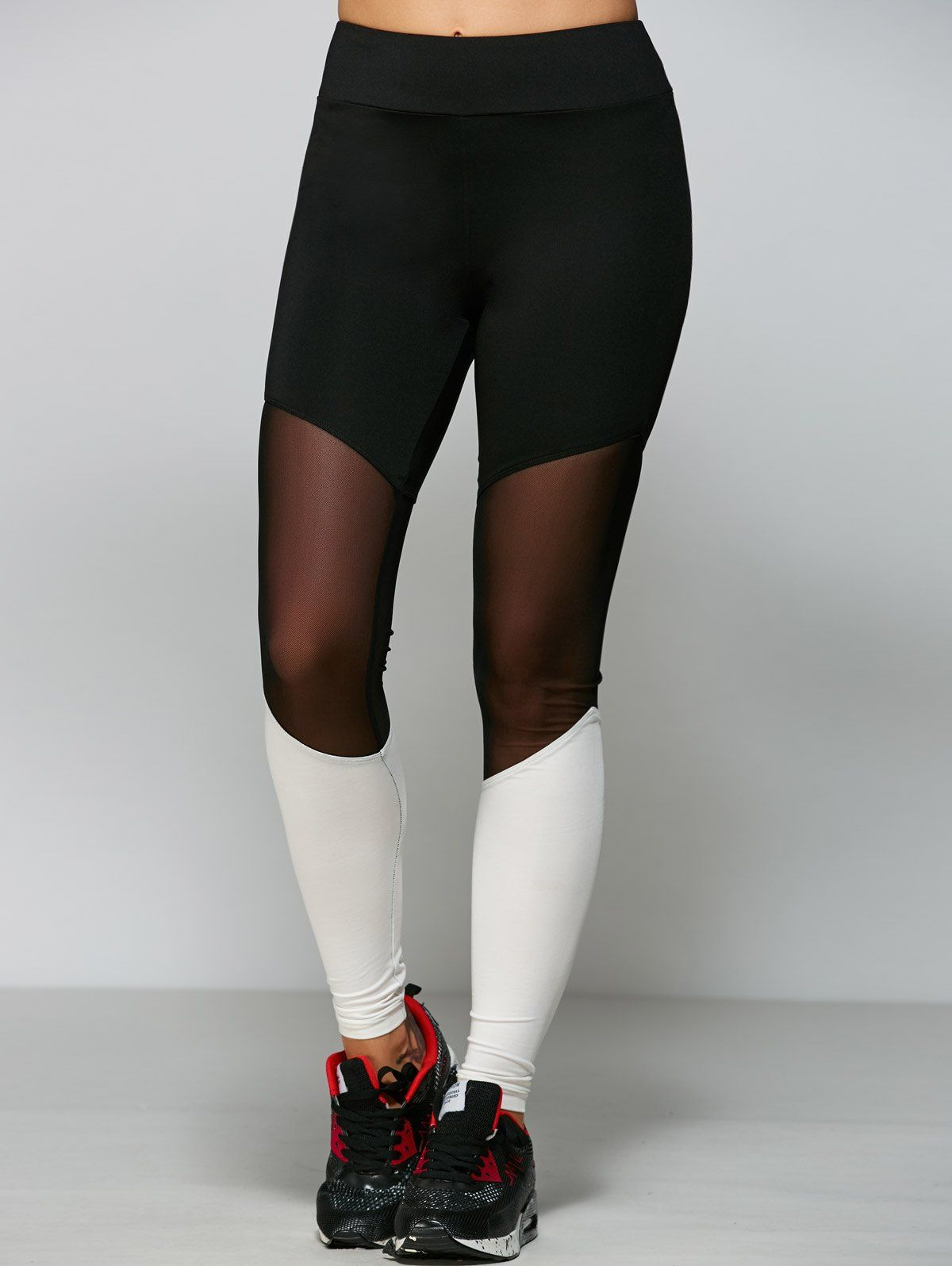 519c8549387ead Only $18.99 for Mesh Panel Tight Fit Leggings | ACTIVEWEAR | Workout ...