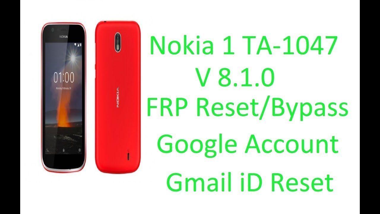 Nokia 1 FRP Reset-Bypass [ TA1047 ] l How To Nokia 1 FRP Reset