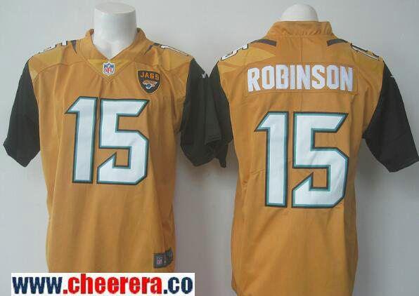 ... Mens Jacksonville Jaguars 15 Allen Robinson Gold 2016 Color Rush  Stitched NFL Nike Limited Jersey ... cc624ee6d