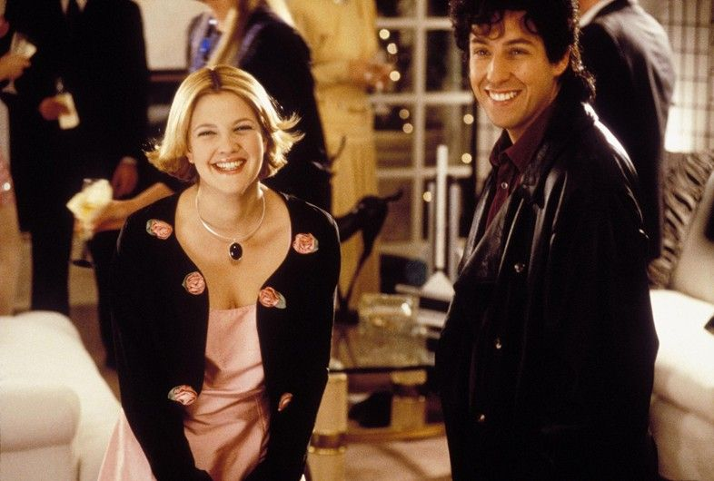 Drew Barrymore Fashion Moments On Film The Wedding Singer Best Romantic Comedies Movie Couples