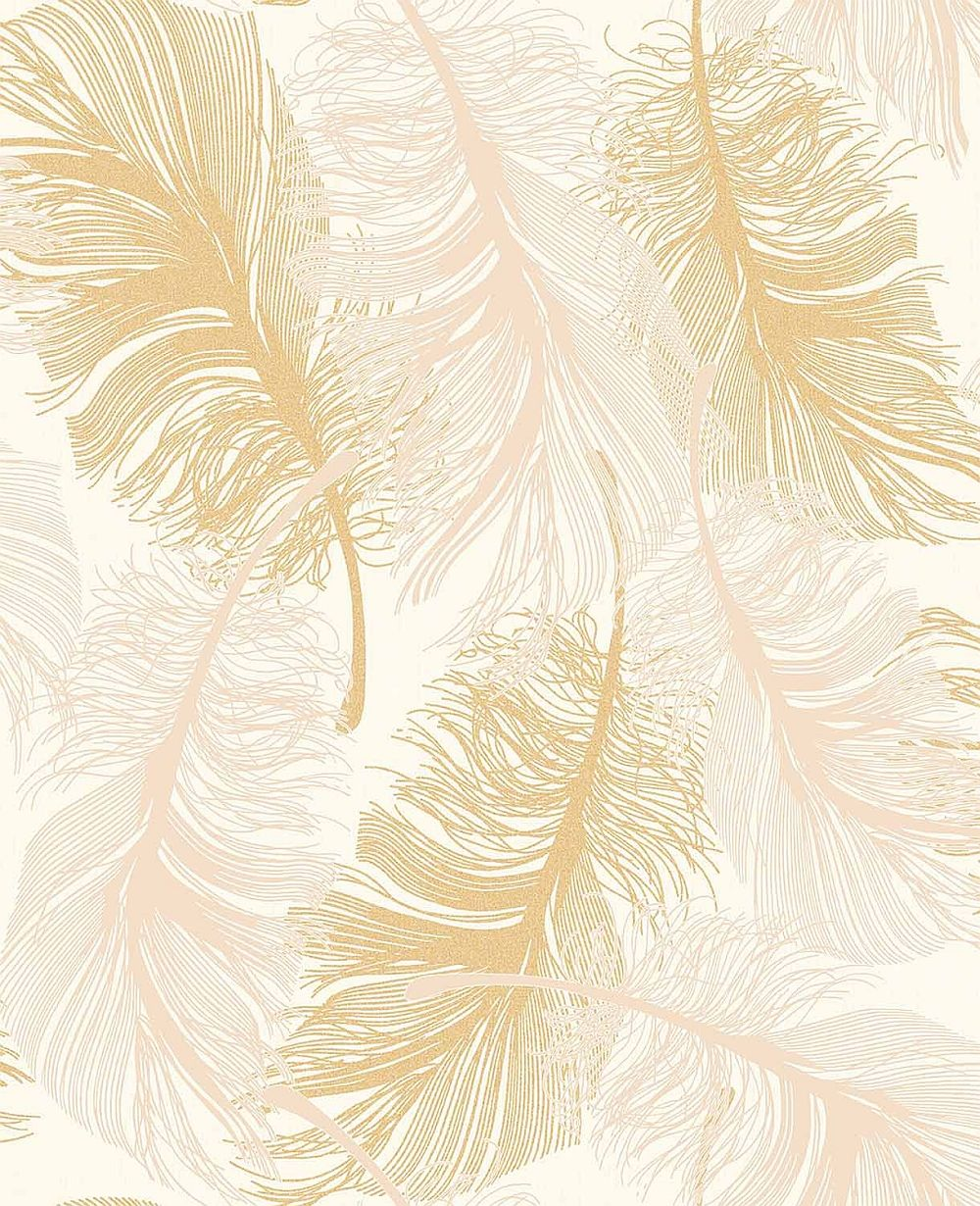 Feather gold coloroll glitter effect code m0926 11 for Gold wallpaper for walls