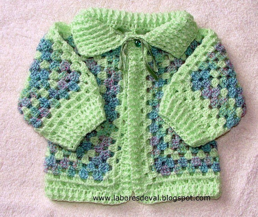 Labores de val casaquinho de beb hex gono infantis - Labores de crochet para bebes ...
