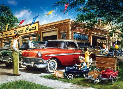 Childhood Dreams: Bargain Used Cars SIMPLE PASTIMES PUZZLES