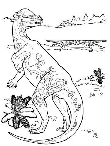 pachycephalosaurus cretaceous period dinosaur coloring page color me happy pinterest kids. Black Bedroom Furniture Sets. Home Design Ideas