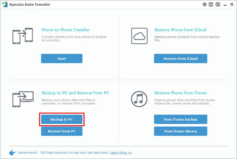 select backup to pc Icloud, Mobile data, Data