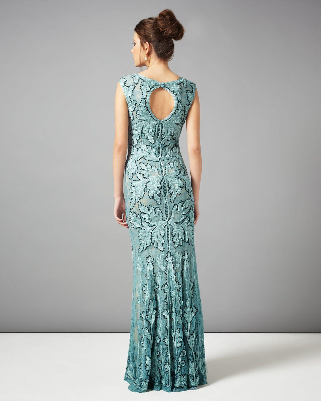 Dresses | Blue Paige Tapework Full Length Dress | Phase Eight | My ...